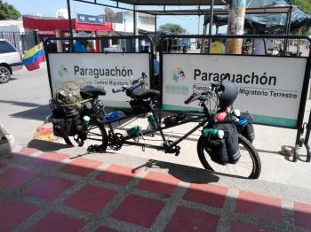 cicloexpedicionidtas - venezolanos bicicleta - cicloviajeros paraguachon frontera