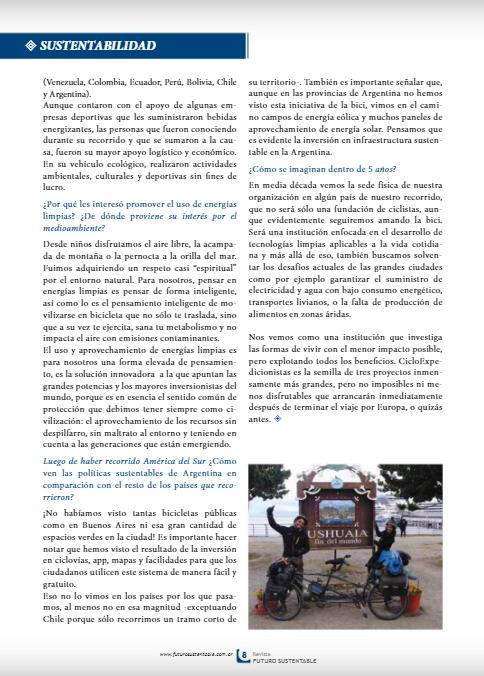 REVISTA FUTURO SUSTENTABLE N 79 CICLOEXP PAG 8-